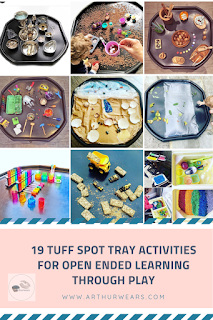 19 tuff spot tray activities for open ended learning through play