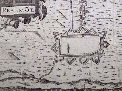 ancien plan fortifications de la ville de Réalmont Tarn