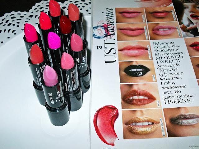 Recenzja: My Secret I Love Matte Lips - matowe pomadki.
