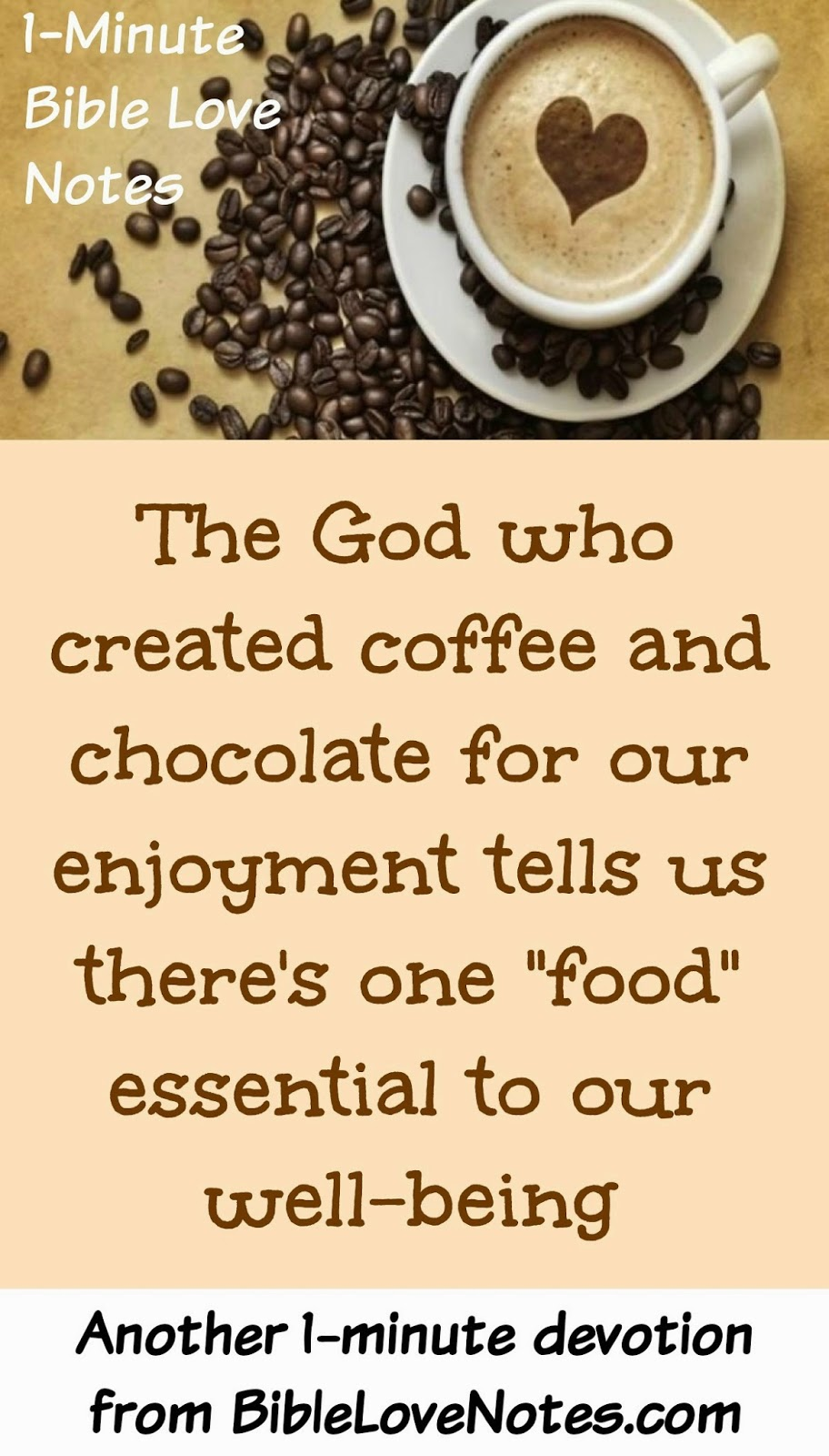 Matthew 4:4, Man does not live by bread alone, shortages of chocolate and coffee