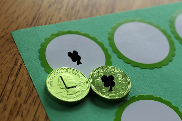Make a secret message treasure hunt using chocolate coins