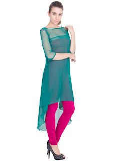 Green desire sensual casual kurti