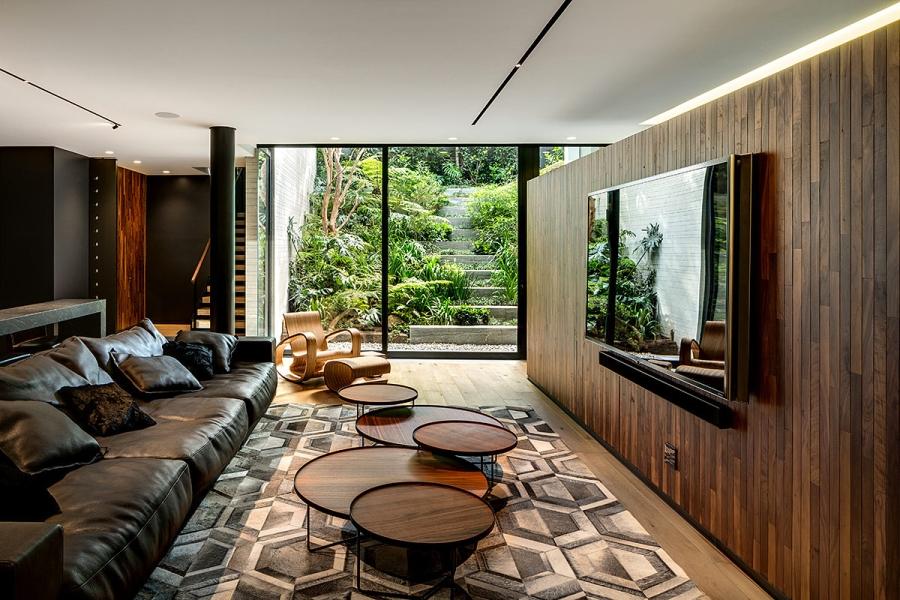 wystrój wnętrz, wnętrza, urządzanie mieszkania, dom, home decor, dekoracje, aranżacje, styl nowoczesny, modern style, ogród, garden, duże okna, big windows, salon, living room