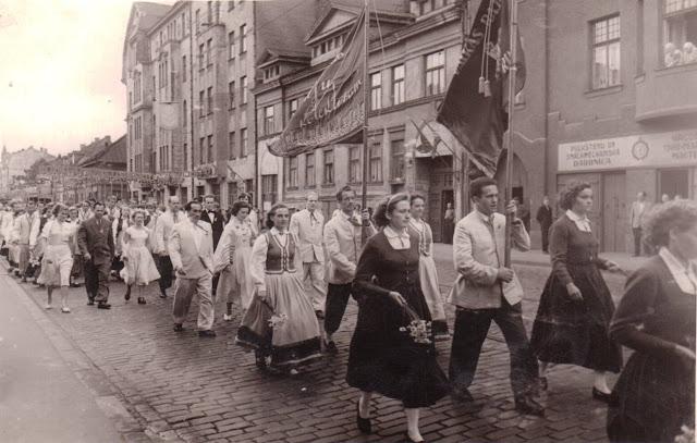 1960 год. Рига. Праздник песни и танца. Коллектив города Валка