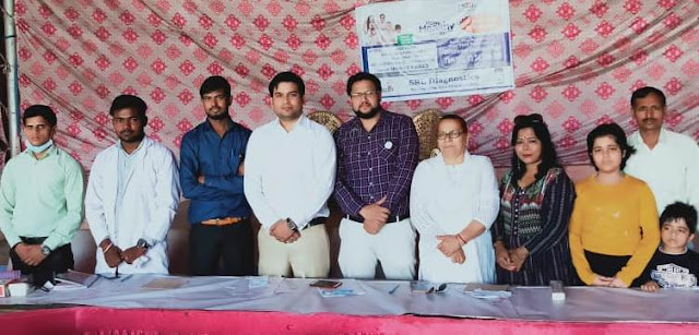 Health Check Camp organized by All India Human Welfare Trust dedicated to social service in Faridabad