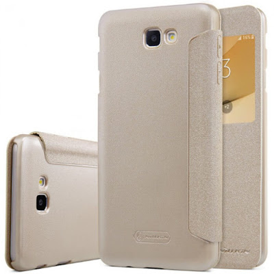 JUAL NILLKIN SPARKLE FLIP CASE COVER SAMSUNG GALAXY J5 PRIME GOLD