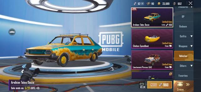PUBG Mobile Sezon 13: Araç Kaplamaları Sızdırıldı!