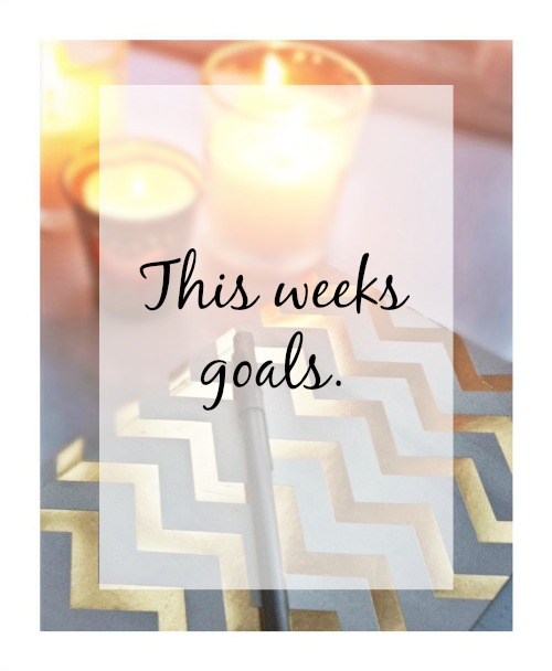 This weeks goals and things to achieve before Christmas