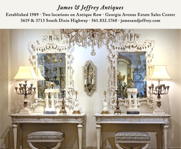 Vignette by James & Jeffrey Antiques West Palm Beach Florida.