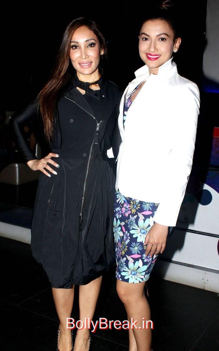 Sofia Hayat, Gauhar Khan, Sofia Hayat hot Pics from her album Launch in black Dress