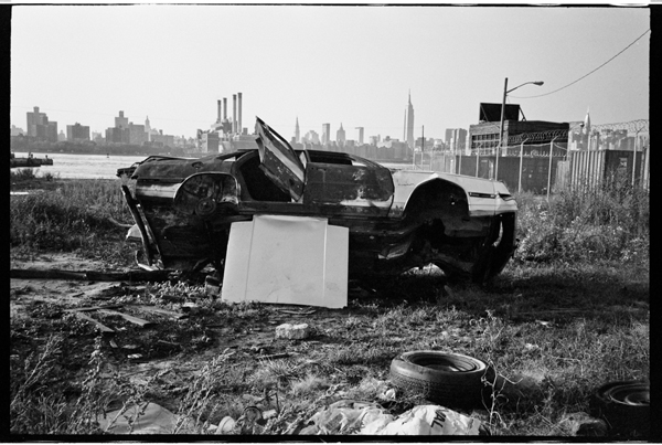 Car Stripping in Brooklyn, 1980's ~ vintage everyday