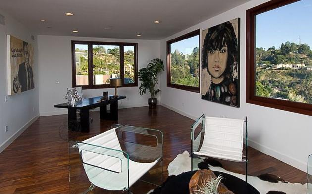 Picture of home office interiors in the Rihanna's house