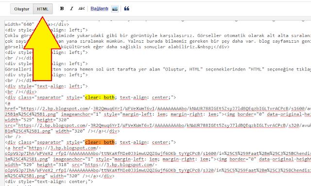 HTML görsel konum kodu