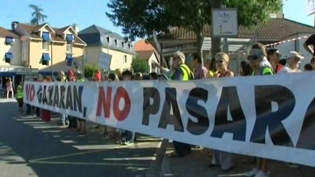 Verdes manifestam em Figeac contra o gás de xisto