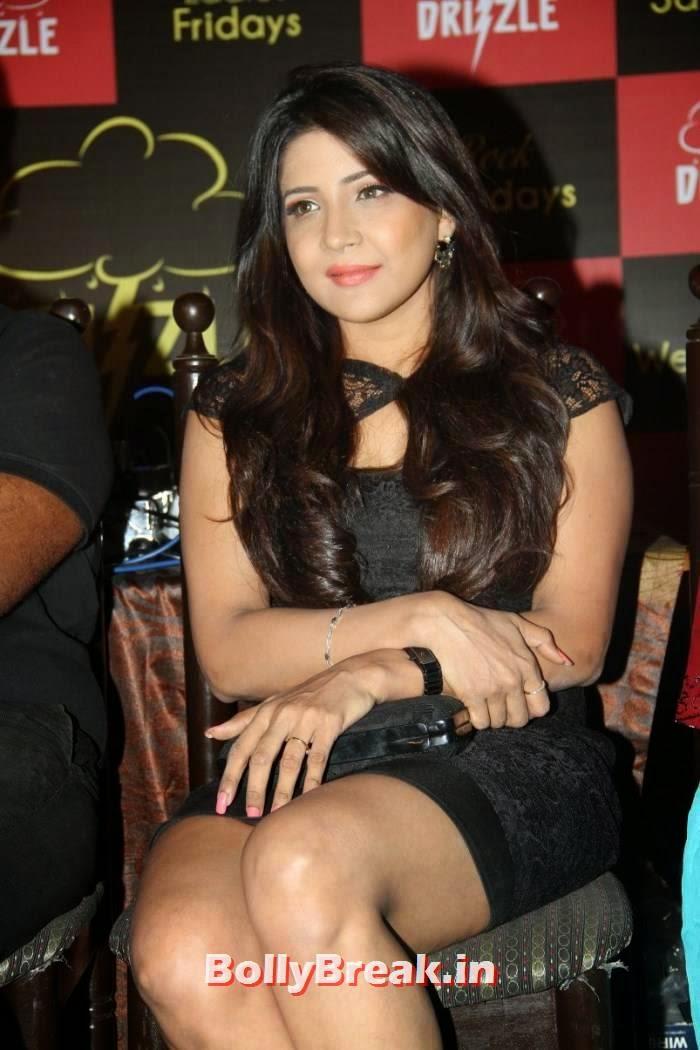 , Tamil Actress Night Club Hot Photos in Sexy Dress - Sakshi Agarwal