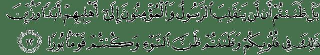 Surat Al-Fath Ayat 12