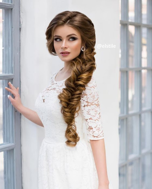 صور تسريحات شعر للعروس
