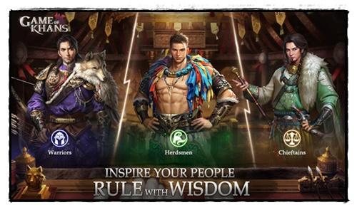 Gambar watak beberapa penasihat dalam permainan Game of Khans