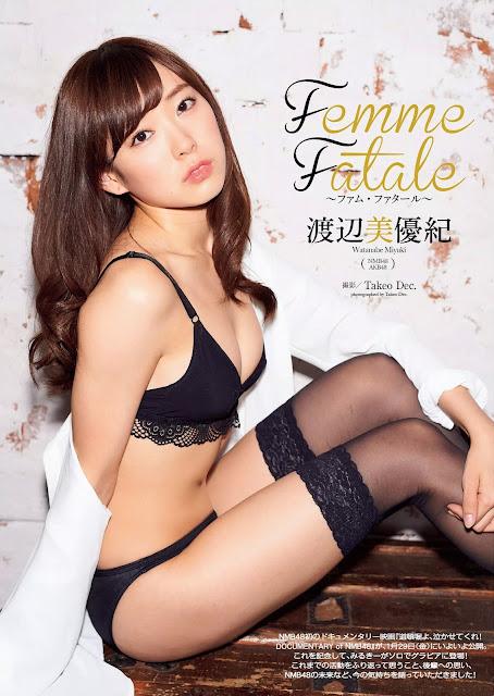 Watanabe Miyuki 渡辺美優紀 Femme Fatale Images