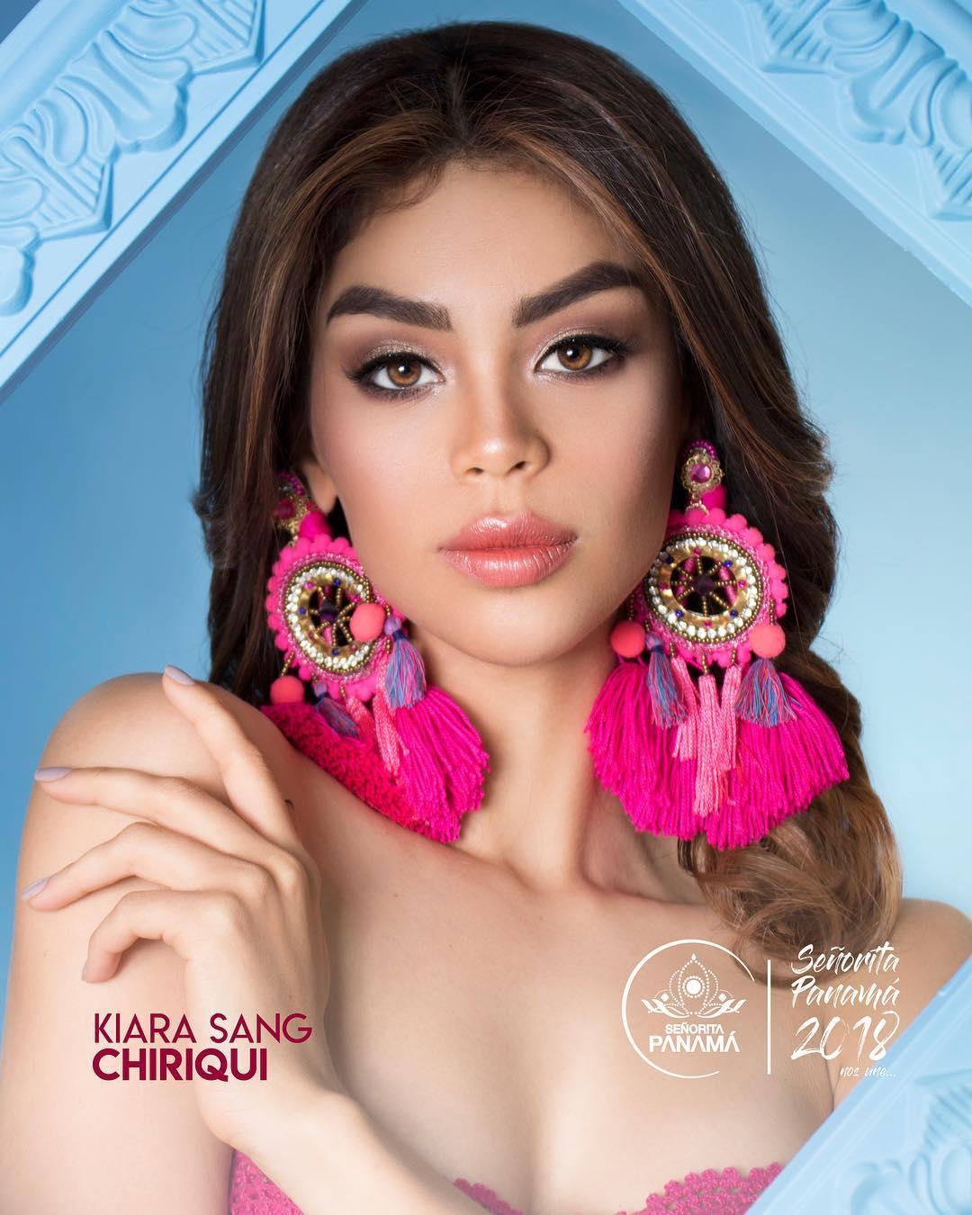 señorita miss colombia 2018 candidates candidatas contestants delegates Miss Chiriquí Kiara Sang