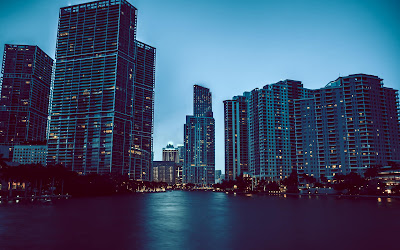 miami evening widescreen hd wallpaper