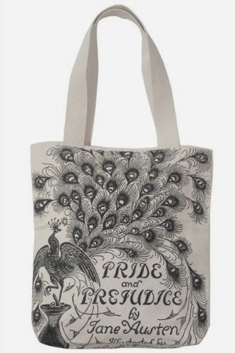 Pride and Prejudice vintage tote bag
