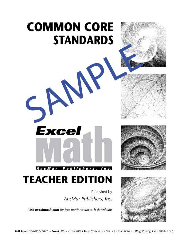 Excel Math: Bridging the Gap to Common Core Math