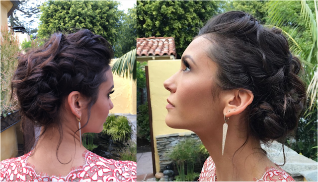 whimsical updo with twists, knots, and braids