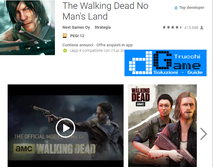 Trucchi The Walking Dead No Man's Land Mod Apk Android v2.4.0.91