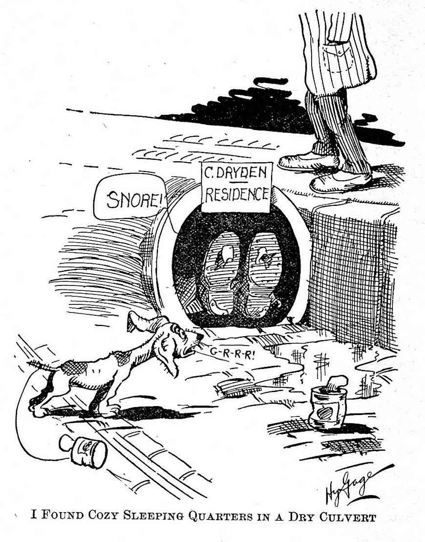 a 1905 cartoon about homelessness