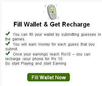 fill wallet