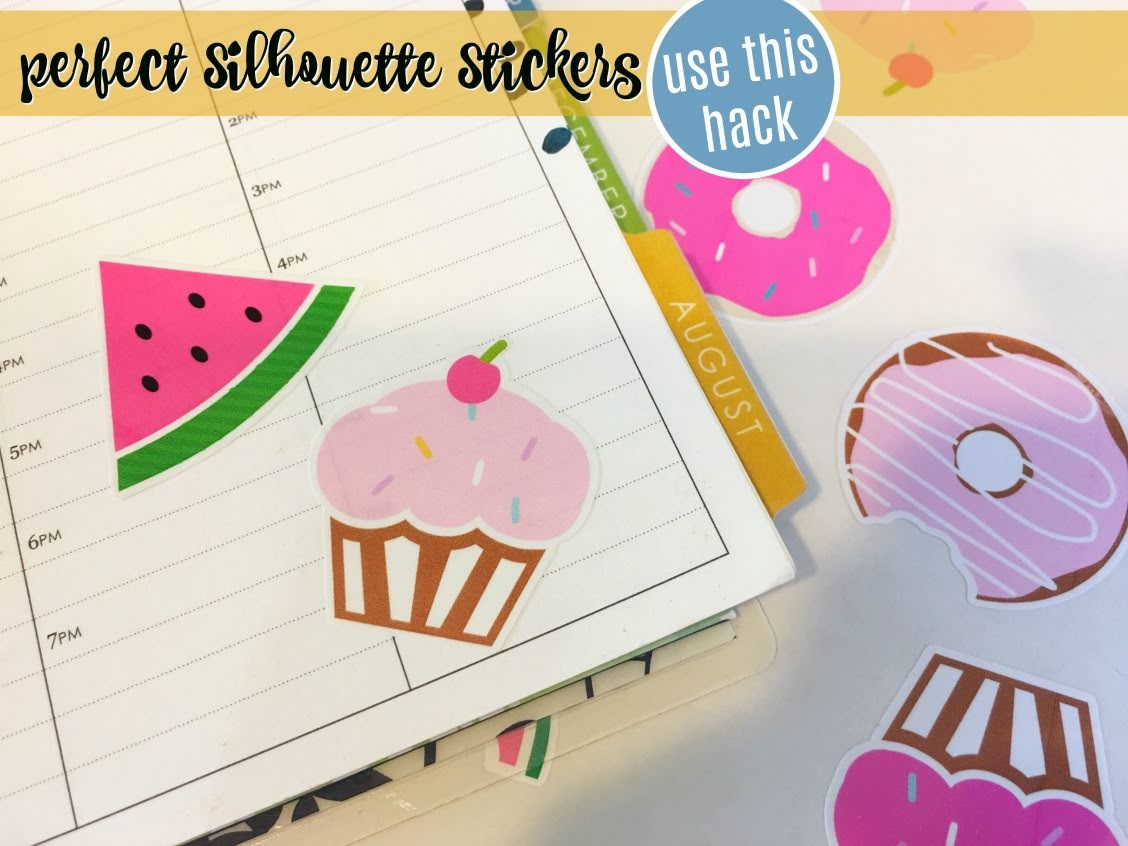 Silhouette sticker paper silhouette sticker silhouette stickers silhouette cameo stickers glossy sticker