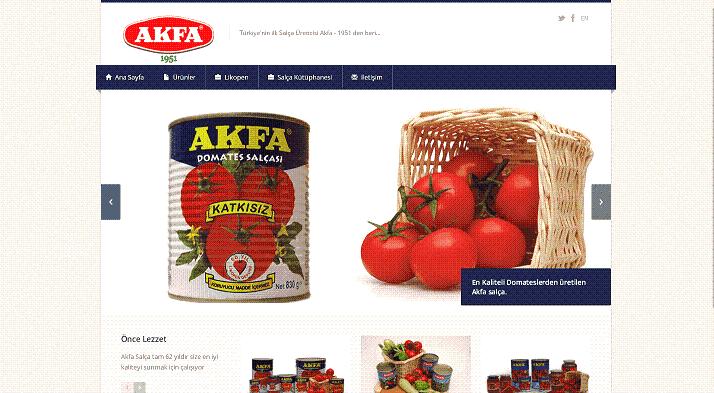 Türkiye'deki domates salçası ve biber salçası üreticileri ve ihracatçıları.-Akfa Firması