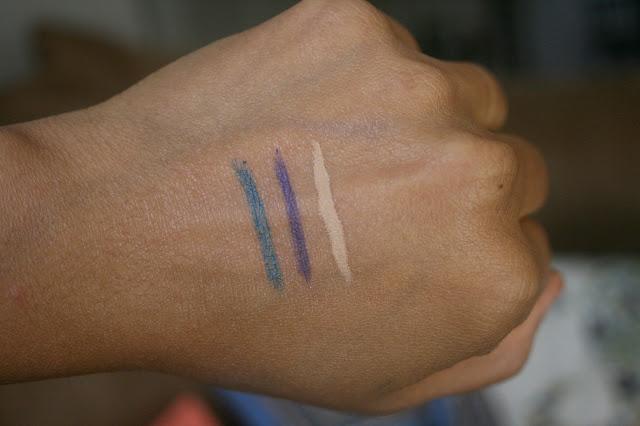 Vert Beauty Eyeliner in Violet and Vert and Concealer in Moyen