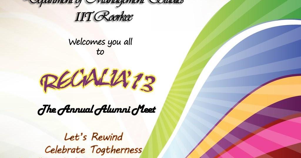 iit roorkee alumni meet invitation