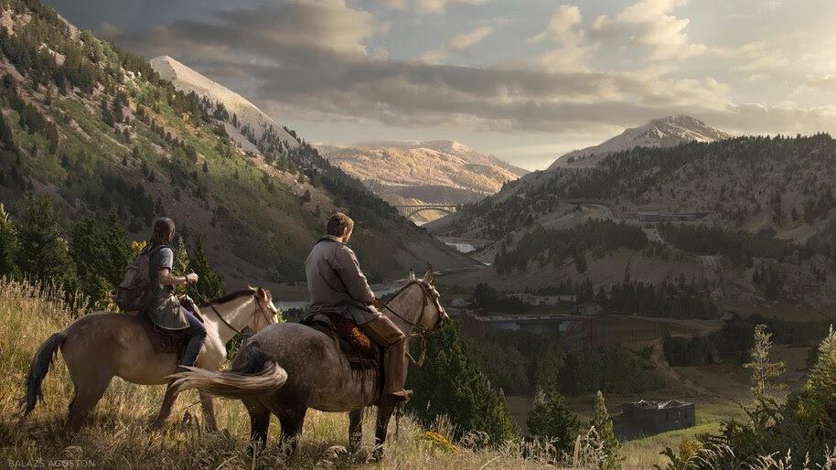 Joel and Ellie, The Last of Us Part 2, Scenery, 4K, #5.2472