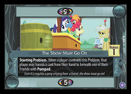 My Little Pony The Show Must Go On The Crystal Games CCG Card