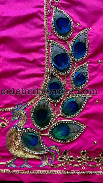 Latest One Side Work Blouse Designs
