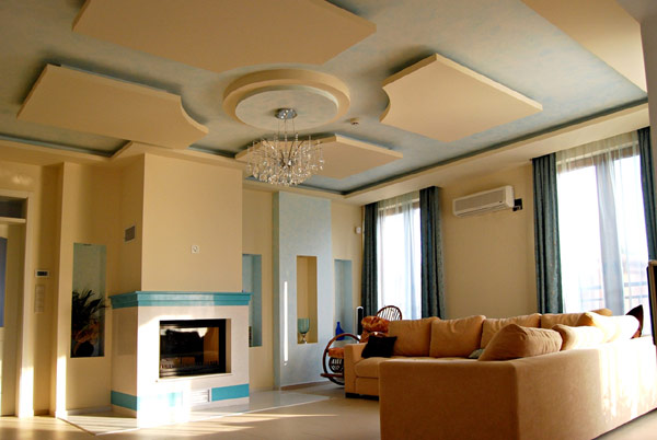 usually the homeowners like to have blue or yellow color those two colors make the room little bit warmer it is a good choice for living room ceiling - Living Room Ceiling Colors