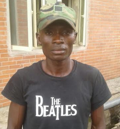 man wears military cap lekki lagos