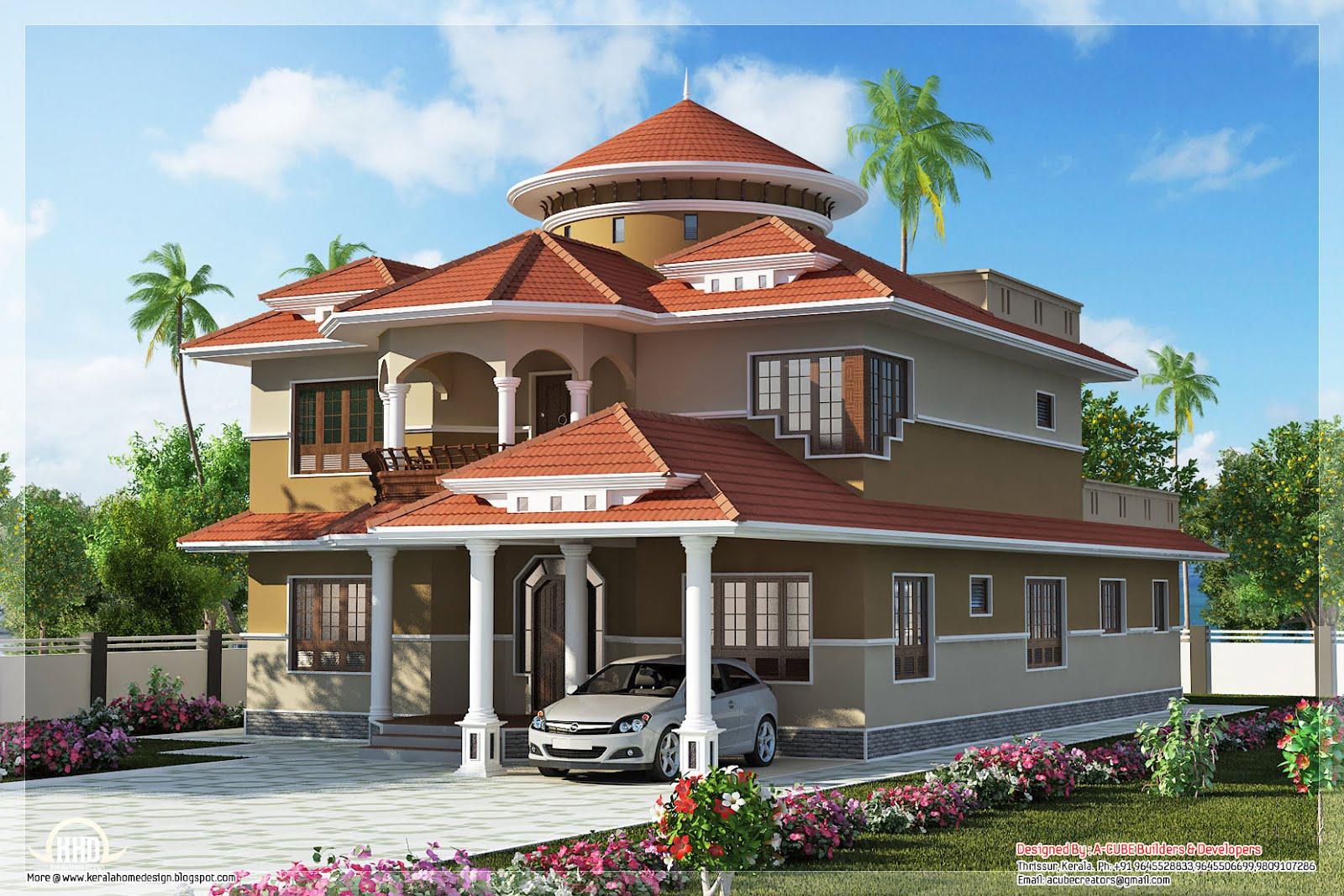 beautiful dream home design sq feet home appliance september kerala home design floor plans