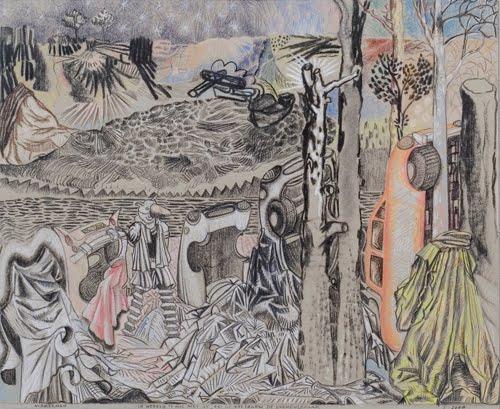 Marcel Reijerman De Wereld is nog niet af, zei de vos tegen vormenleraar, 2009 charcoal and conte on ingres paper 40,5 x 55 cm