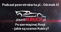 Robert Kubica podcast vlog Grand Prix Rosji szanse Williams F1