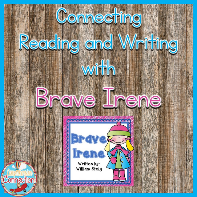 Brave Irene is a wonderful mentor text for reading comprehension and writing. Check out this post for lesson ideas you can use for character development, imagery, writing voice, and more.