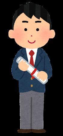 卒業生のイラスト(ブレーザー・男子)