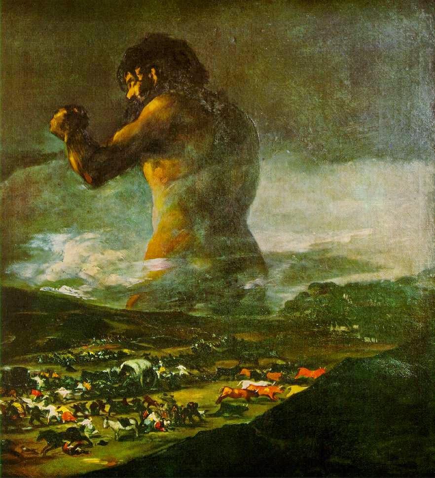 O Colosso - Goya, Francisco e suas pinturas ~ Foi um importante pintor espanhol da fase do Romantismo
