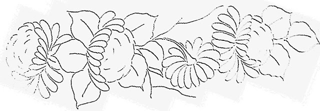 pintura em tecido risco crisantemo pano de prato