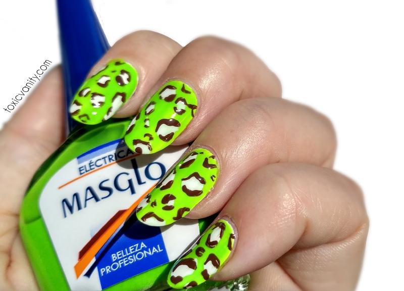 Manicura de verano con Masglo | Leopardo Neon | Toxic Vanity ...
