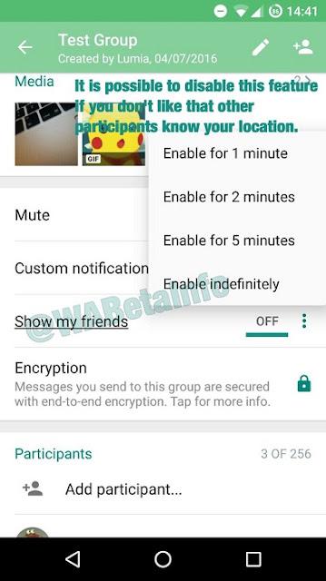 WhatsApp Canlı Lokasyon Takibi Özelliği