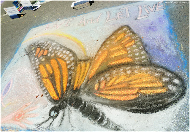 Mariposa Chalk on the Walk en la MayFair 2016